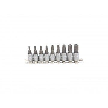 "1/4"" TORX SOCKET BIT SET 5PT 9 PIECES"