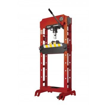 SHOP PRESS HYDRAULIC-PNEUMATIC 20TON W/PIN SET