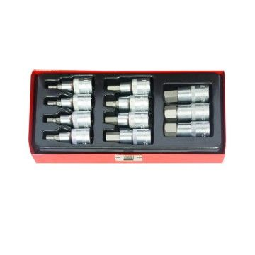 "HEXAGONAL SOCKET SET 1/2"" 11 pcs"