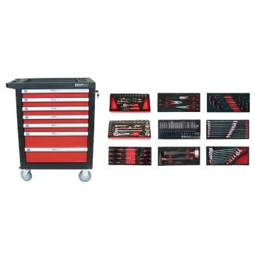 7 DRAWS TOOL CABINET 174 pcs
