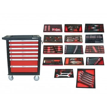 TOOL CABINET 7 DRAWERS 259pcs