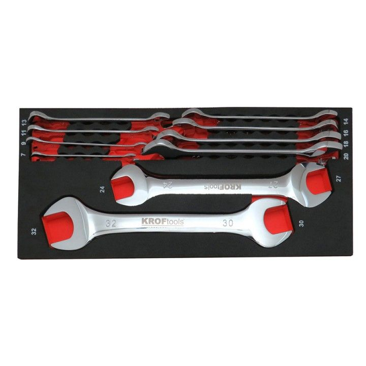 DOUBLE OPENED ENDED SPANNER SET 10pcs