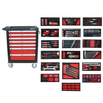 TOOLS CABINET 7 DRAWERS 547pcs