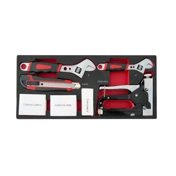 ADJUSTABLE WRENCH, STAPLER GUN, KNIFE MODULE 7 PCS