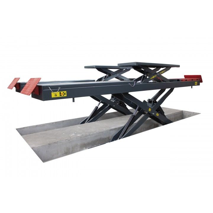 5,5TON DOUBLE SCISSOR LIFT FOR ALIGNMENT W/ LED