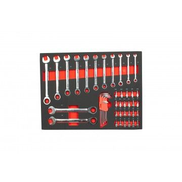 RATCHET COMBINATION SPANNER AND 1/4  BITS MODULE