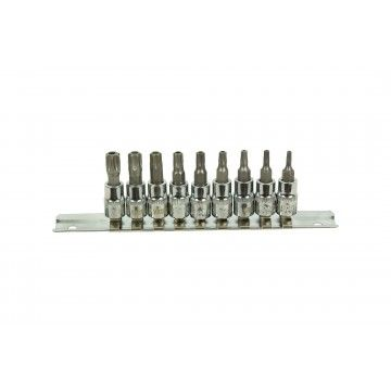 "1/4"" TORX SOCKET BIT SET 9 PIECES"