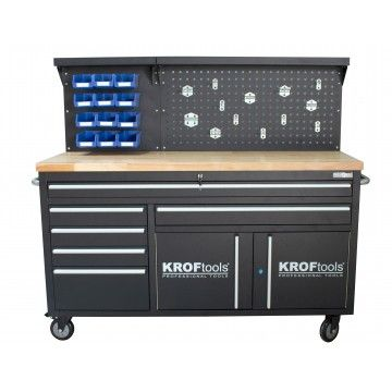 60´´ MOBILE WORKBENCH WITH PERFORATED PANEL