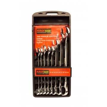 COMBINATION SPANNERS SET 8PCS 33-50MM