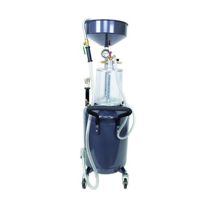 OIL VACUUM EXTRACTOR WITH MEASURING CUP 80L