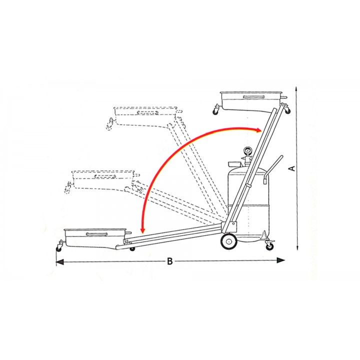 90L PANTOGRAPH OIL DRAINER WITH PRECHAMBER